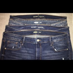 4 pairs of old navy skinny jeans